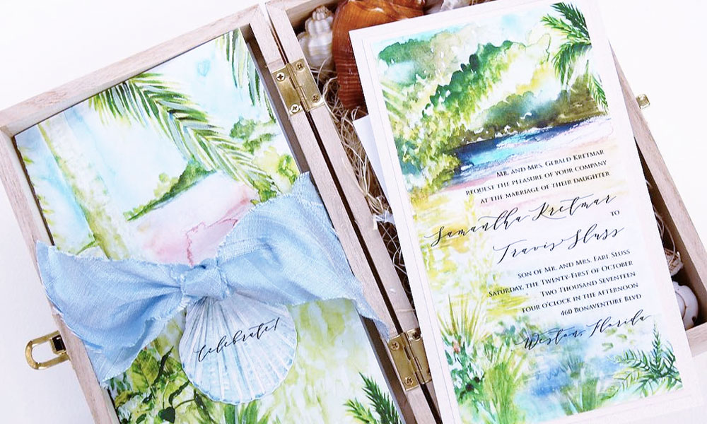 Shell Out These Beach Inspired Wedding Invitations!