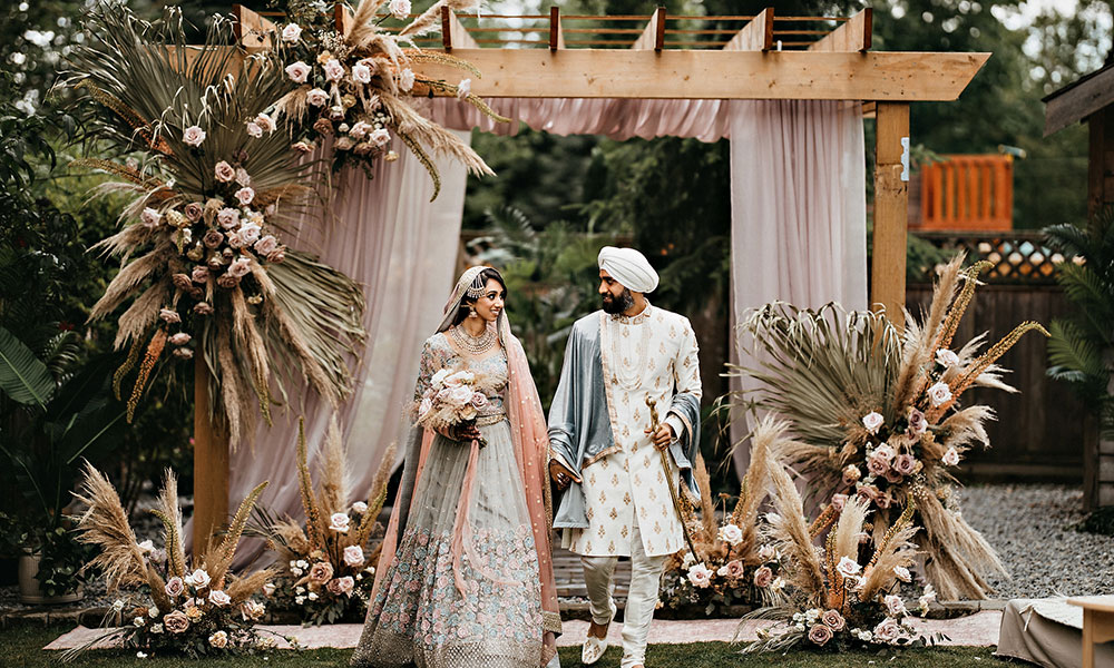 This Bride's Intimate Wedding During COVID Will Make You Fall Head Over Heels With Boho-Chic